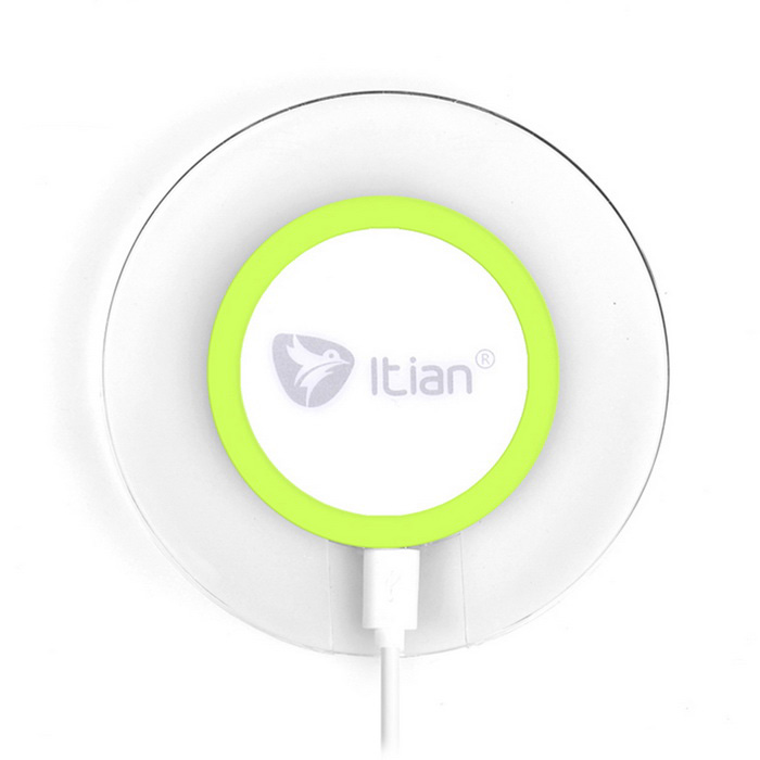Itian A9-Qi Standard Wireless Charger for Mobile Phones - Green