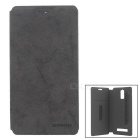 SISWOO Protective Flip-Open PU Full Body Case for SISWOO R8 - Blackish Grey