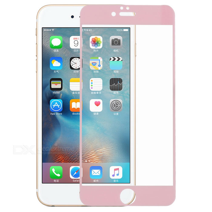 Tempered Glass Screen Protector Guard for IPHONE 6S PLUS - Pink