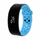 IP67 Waterproof Silicone LED Smart Bracelet w/ Pedometer / Calorie Monitor - Black + Blue