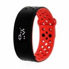 IP67 Waterproof Silicone LED Smart Bracelet w/ Pedometer / Calorie Monitor - Black + Red