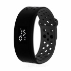 IP67 Waterproof Silicone LED Smart Bracelet w/ Pedometer / Calorie Monitor - Black + Grey