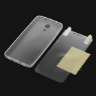 Silicone Back Case + Screen Film for Letv 1 Pro X600 - Transparent