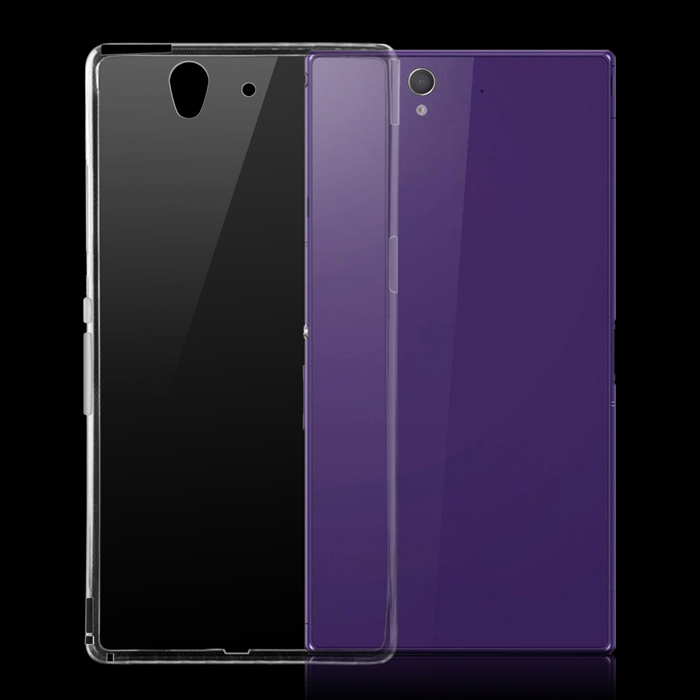 Protective TPU Back Cover Case for Sony Xperia Z / L36h - Transparent