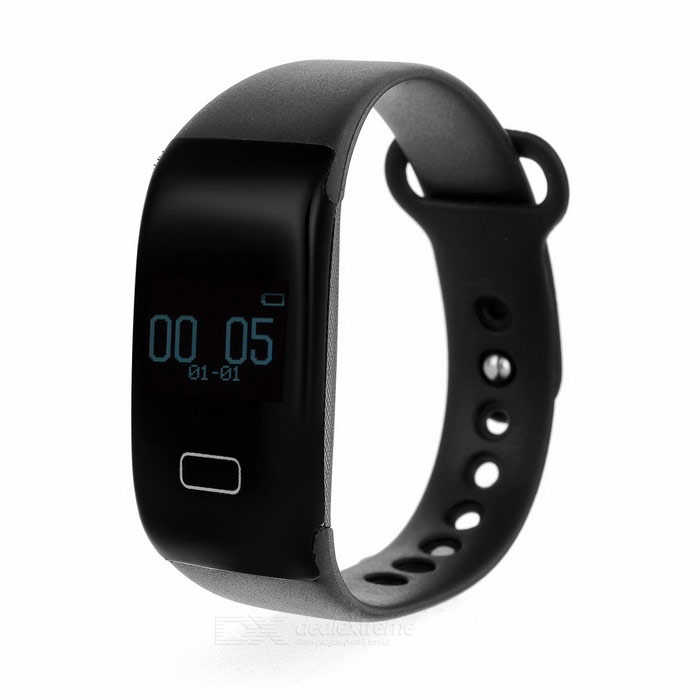 WK001 0.68 OLED BT V4.0 Smart Bracelet w/ Heart Rate Monitor - BlackSmart Bracelets<br>Form  ColorBlackModelWK001Quantity1 DX.PCM.Model.AttributeModel.UnitMaterialSiliconeShade Of ColorBlackWater-proofNoBluetooth VersionBluetooth V4.0Touch Screen TypeOthers,OLEDOperating SystemNoCompatible OSAndroid, IOSBattery Capacity1000 DX.PCM.Model.AttributeModel.UnitBattery TypeLi-polymer batteryStandby Time120 DX.PCM.Model.AttributeModel.UnitPacking List1 x Bracelet1 x Charging cable (43+/-2cm)<br>