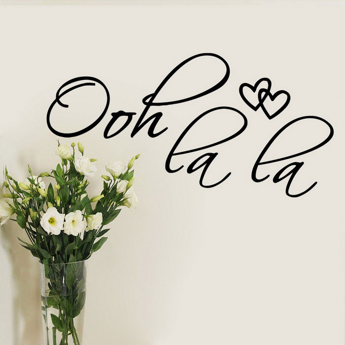 OOH LA LA English Proverbs Wall Stickers Car Stickers - Black