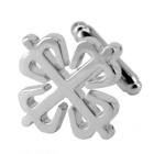 Men's Snowflakes Model Jewelry Brass Cufflinks - Silver (Pair)