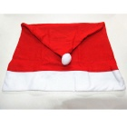 Christmas Hat Style Decorative Chair Cover - Red + White