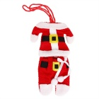 Santa Claus Clothes Style Cutlery Holder Set - Red + Multicolor