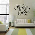 """KISS ME"" Design Home Decorative Wall Sticker Decal - Black"
