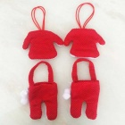 Santa Claus Clothes Cute Cover Set - Red (3PCS Clothes / Pants)