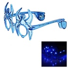 Bat Style Halloween Cosplay Glasses w/ 10-LED - Blue (3 x AG13)