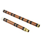 G Key Bamboo Flute - Coffee + Black