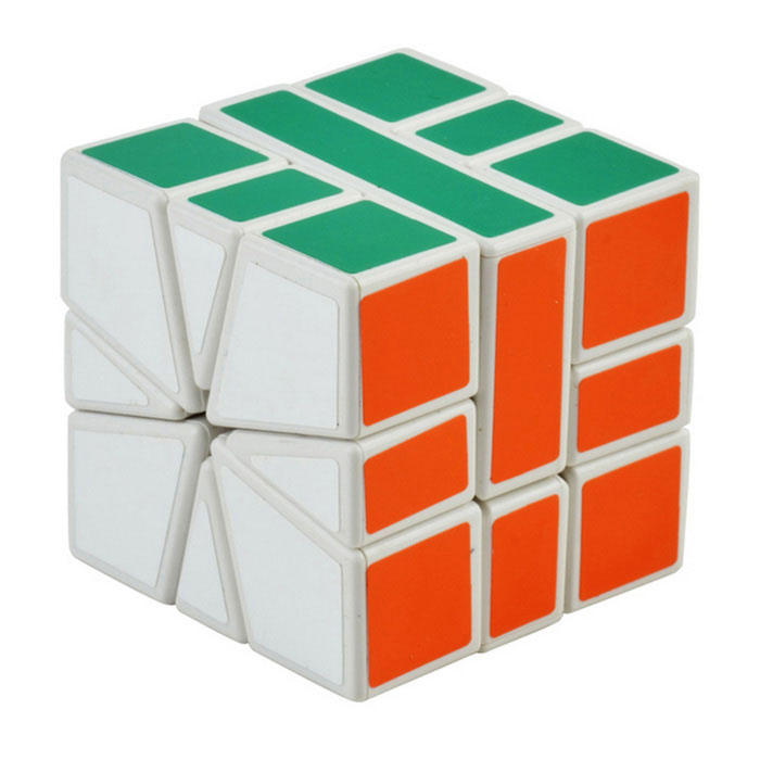 3 * 3 * 3 5.7cm cubo mágico - blanco + verde + multi-color
