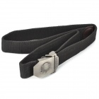 TOUGH Men Free Size Durable Belt with Metal Buckle - Black (120CM-Length)