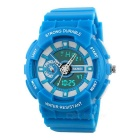 SKMEI 50m Waterproof Fashion Analog + Digital Wrist Watch - Sky Blue + White (1 x CR2016 / SR626)