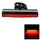 Waterproof USB Powered 5-Mode LED Bike Taillight / Safety Light Red Light - Black + Red