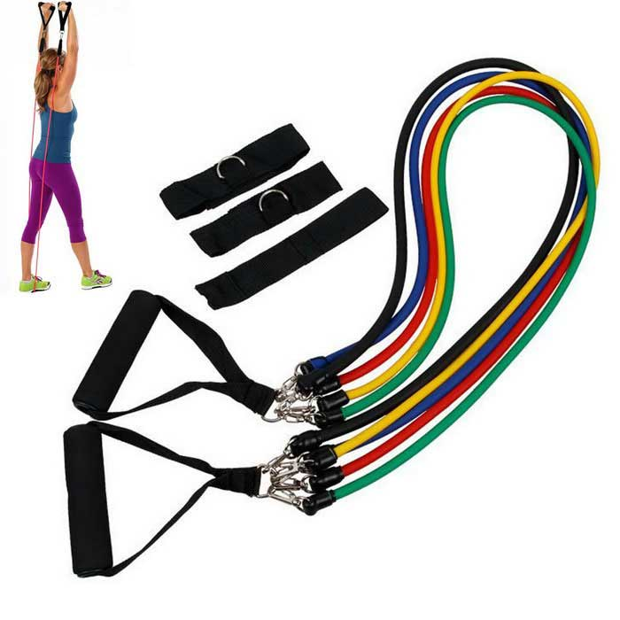 Resistance Exercise Bands Ankle Band Set for Yoga Gym Fitness - BlackFitness Equipment<br>Form  Colorblack + more clorsQuantity1 setMaterialTPEGenderUnisexPacking List5 x 1.2m Resistant Bands (black, red, blue, yellow, green)1 x Door Anchor2 x Ankle Straps2 x Foam Handles1 x Travel Pouch<br>