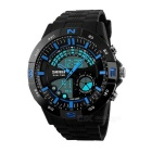 SKMEI 50m Waterproof Multi-function Men's Sports Analog + Digital Watch - Black + Blue (1 x CR2025)