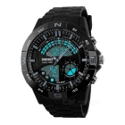 SKMEI 50m Waterproof Multi-function Men's Sports Analog + Digital Watch - Black + Grey (1 x CR2025)