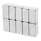 20*10*10mm Rectangular NdFeB Magnet - Silver (10PCS)