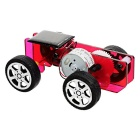 DIY Assembling Educational Solar Powered Car Toy - Pink + Black