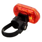 Waterproof 5-Mode 5-LED Red + Yellow Light Bike Taillight w/ Clip