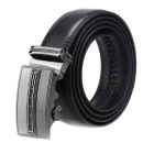 Fanshimite A05 Men's Automatic Buckle Cow Split Leather Belt - Black (130cm)