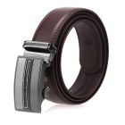 Fanshimite A05 Men's Automatic Buckle Cow Split Leather Belt - Brown (120cm)