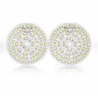JRLED 24W 48-5730 SMD 2000lm 6450K White Light LED Panel Lamp / Ceiling Light (2PCS / DC 72~80V)