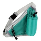 Outdoor Multi-Function Close-Fitting Nylon Waist Bag w/ Water Bottle Holder Pocket - Green