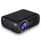 UHAPPY U80 HD Home Theater LED Mini Projector w / SD / HDMI / VGA / AV / USB - Black