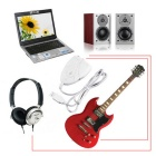 Mini USB Interface Audio Link Cable forGuitar to PC MAC