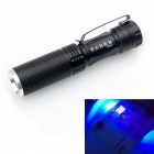 ZHISHUNJIA 100lm 3-Mode 395nm UV Fluorescent Agent Identification Flashlight - Black (1 x 14500)
