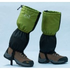 Wind Tour Snow Shoes Cover Wrap Legging Gaiter - Black + Green (Pair)