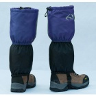 Wind Tour Snow Shoes Cover Wrap Legging Gaiter - Black + Blue (Pair)