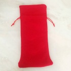 Santa Claus Style Bottle Bag - Red + White (2PCS)