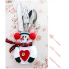 Christmas Snowman Sack Spoon Cutlery Sets - Red (2PCS)