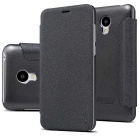 NILLKIN PU Leather + PC Flip-Open Case for MEIZU M2 - Black