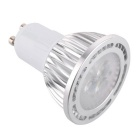 GU10 3W 300lm 3-3030 SMD Cold White LED Spot Light - Silver (85~265V)