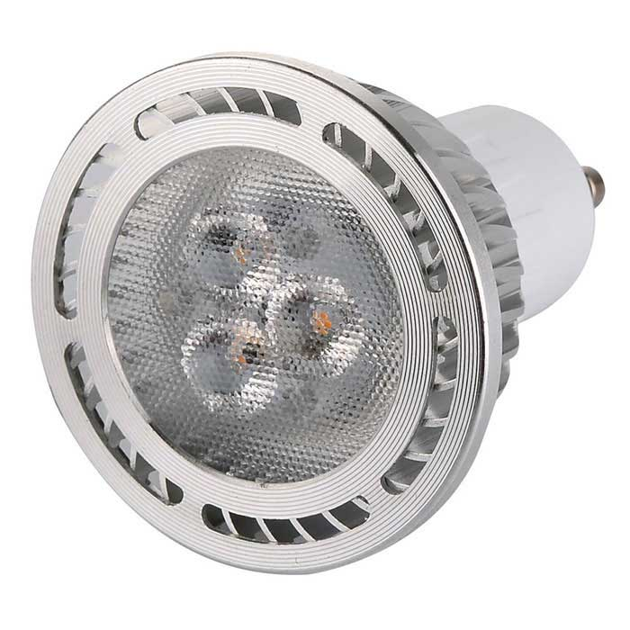 GU10 3W 300lm 3-3030 SMD 3000K Warm White LED Spot LightGU10<br>Form  ColorWhite + Orange + Multi-ColoredColor BINWarm WhiteMaterialAluminum, PCQuantity1 DX.PCM.Model.AttributeModel.UnitPower3WRated VoltageAC 85-265 DX.PCM.Model.AttributeModel.UnitConnector TypeGU10Theoretical Lumens360 DX.PCM.Model.AttributeModel.UnitActual Lumens300 DX.PCM.Model.AttributeModel.UnitEmitter TypeOthers,3030 SMDTotal Emitters3Color Temperature3000KDimmableNoBeam Angle120 DX.PCM.Model.AttributeModel.UnitPacking List1 x LED Light Bulb<br>