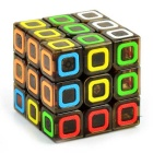 3*3*3 Colorful Ring Pattern Brain Challenge Magic Cube - Multicolored