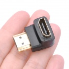 Right Angle HDMI Male to HDMI Female Adapter / Connector - Black