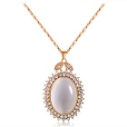 Xinguang Atmospheric Lobe Imitation Opal Crystal Necklace - Rose Golden