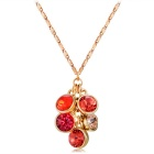 Xinguang Round Crystal Alloy Necklace - Golden