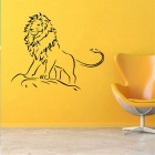 Creative Personality Cartoon Lion Style Children's Room Removable Wall Sticker - Black