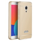 TOCHIC Metal Bumper Frame Case w/ Back Cover for Meizu MX5 - Golden