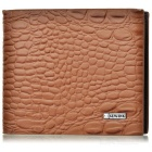 Mode für Männer Alligator Grain Leather Wallet - Brown