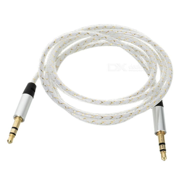 3.5mm Male to Male Audio AUX Cable - White + Black (103cm)