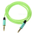 3.5mm Male to Male Audio AUX Cable - Green + Golden (103cm)